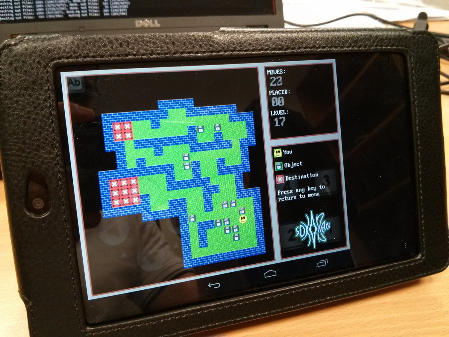 photo of sokoban on android tablet